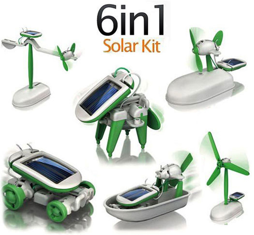 solar kit 2 Vibe 6 in 1 Solar Powered Educational Robotic Kit $9.98