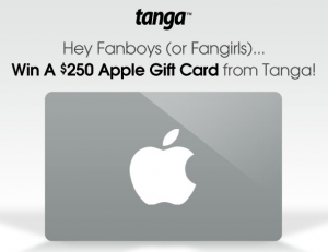 tanga apple gift card giveaway 300x231 Tanga: Win a $250 Apple Gift Card!