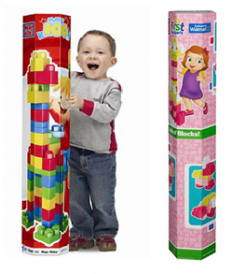 100 piece mega bloks in pink or regular 269x300 100 Piece Mega Bloks Tube in Pink or Regular: Only $10!