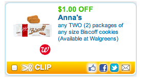 Annas Coupon Deal Walmart – Anna's Biscoff Cookies Just $0.78 with Coupon (was $1.28)