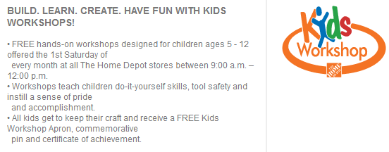 Home Depot Kids Workshop Description FREE: Home Depot Workshop for kids   Build a Fire Truck