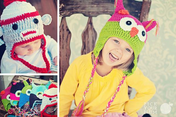 Owl and Monkey Hats Super Cute Owl and Monkey Hats!  $5.49 (Reg $19.95)  *Today Only*