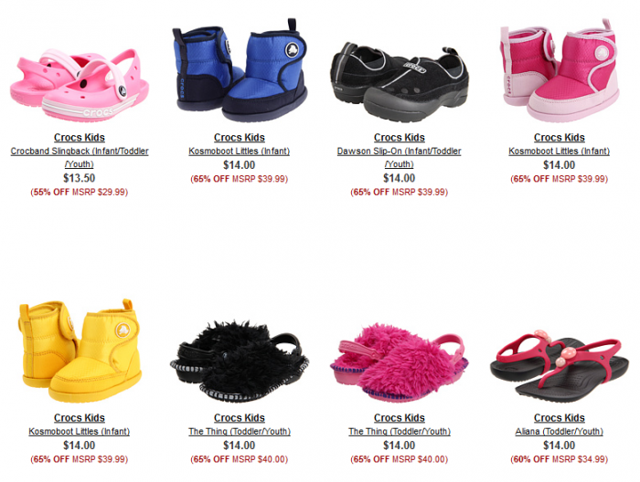crocs 2 Crocs 70% off + free shipping = starts at $9