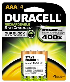duracell batteries *HOT* Rechargable Duracell Batteries 4pk $5.74 shipped