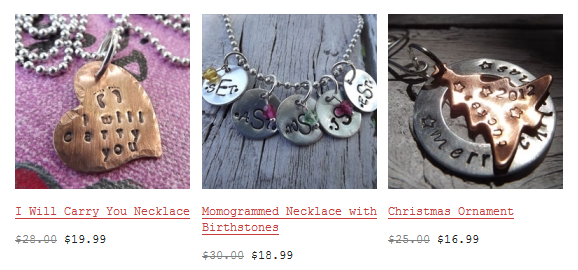 keepsake jewelry Keepsake Jewelry: Unique Designs Starting at $7.99