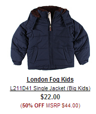 london fog Outerwear Sale (adults + kids) $20 shipped  Columbia, London Fog, Polo, Puma + more...