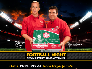 papa johns 300x225 Papa Johns: FREE Pizza with $12 Purchase