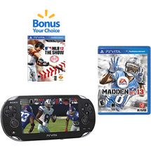 playstation PlayStation Vita (Wi Fi) w/ Madden NFL 13 and Choice of Bonus Game   $249.96