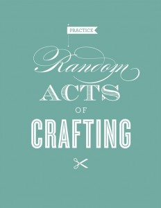 random acts of crafting 232x300 Craft Deals Roundup!