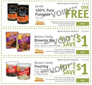 ridleys weekly ecoupons oct 23 300x276 Ridley's Family Market Weekly Deals: October 23 29: (DOUBLES on TUESDAY! FREE V05 Hair Product, FREE Pumpkin, FREE Canned Pumpkin!)