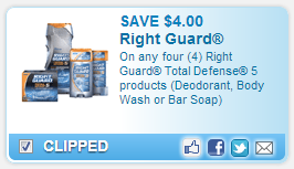 right guard coupon Right Guard $4 off coupon!