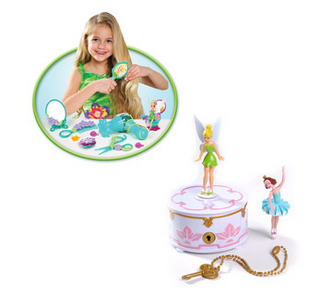 Disney Fairies Wendys Musical Jewelry Box and Pixie Pals Salon Play