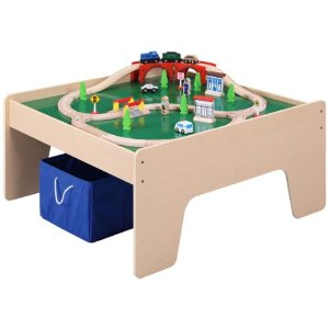 Thomas the train wooden train deals starting at for 100 piece cityscape train set and wooden activity table