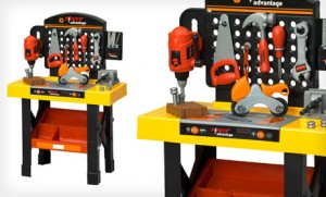 childrens workshop 300x181 Childrens Workbench and Tool Set $39 Shipped!