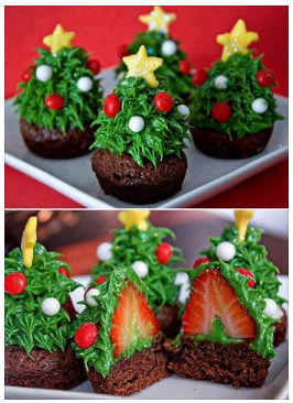 just found this super cute christmas treat idea over on sweet tooth i love that there is a tiny piece of something healthy in the middle and all it takes