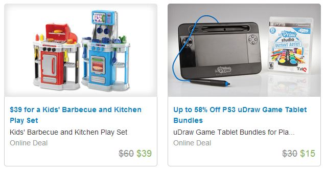 groupon gift 3 Groupon: Gifts for Everyone Including Fun Kids Gift Ideas! $69 Dollhouse, $29 MOTA Train set, $39 Kids BBQ & Kitchen Play Set, & MORE!