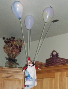 Elf on the shelf entries win a 50 amazon gift card for Elf on the shelf balloon ride
