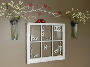 Cricut Valentines Day Window