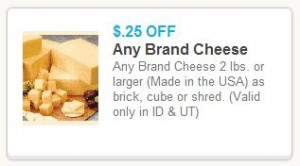 New Cheese Coupon 300x166 Ridley's Family Market Weekly Deals: February 5 11