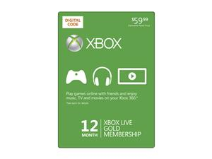 XBox Live 12 Month Gold Membership *Hot* Xbox LIVE 12 Month Gold Membership $34.99!
