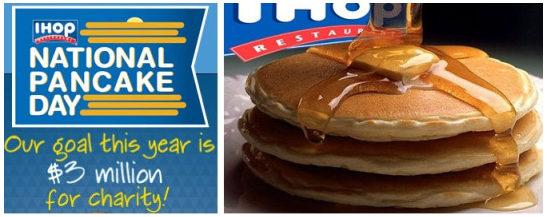 pancakes 2 National Pancake Day = freebie at IHOP!  (Feb 5) **TOMORROW!**
