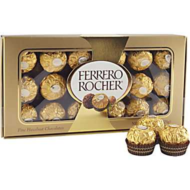 Ferrero Rocher Chocolates Gift Box Ferrero Rocher Chocolate Gift Box, 18 Pieces $4.99 *Hurry*