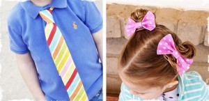 easter and spring ties bow ties and hair bows
